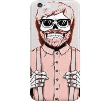 Skeleton hipster man iPhone Case/Skin