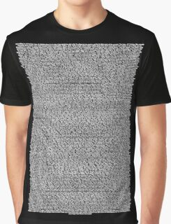 Real Bee Movie Script Black Graphic T-Shirt