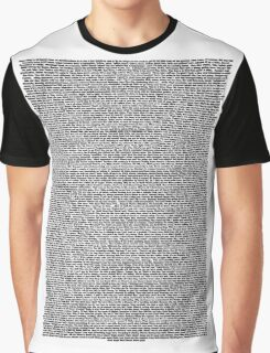 Real Bee Movie Script White Graphic T-Shirt