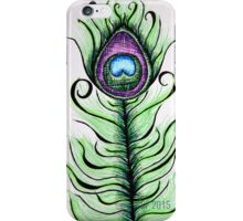 Whimsical Peacock Feather iPhone Case/Skin