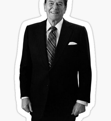 President Ronald Reagan In The Oval Office  Sticker
