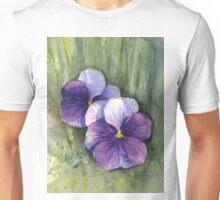 Pansies Watercolor Unisex T-Shirt