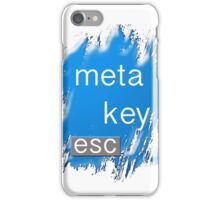 """meta key esc"" typography iPhone Case/Skin"