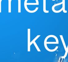"""meta key esc"" typography Sticker"