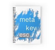 """meta key esc"" typography Spiral Notebook"
