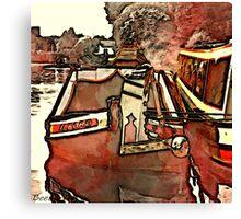 Narrow Boat Ilford Canvas Print
