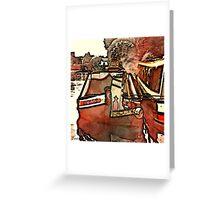 Narrow Boat Ilford Greeting Card