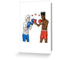 Warhol vs Basquiat Greeting Card