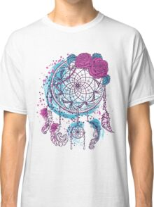 Dream catcher with ornament and roses Classic T-Shirt