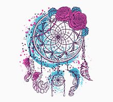 Dream catcher with ornament and roses Unisex T-Shirt