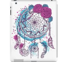 Dream catcher with ornament and roses iPad Case/Skin