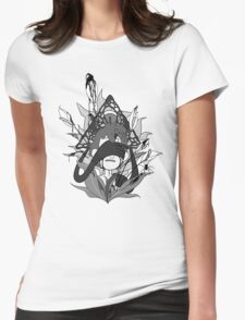 Uitzilcapac - Greyscale Womens Fitted T-Shirt