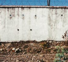 Wall With Barbed Wire Sticker
