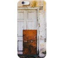 Closed Door in Old Building iPhone Case/Skin
