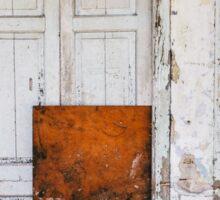 Closed Door in Old Building Sticker
