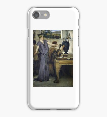 Sir Lawrence Alma-Tadema - Etruscan Vase Painters iPhone Case/Skin