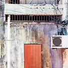 Old Cement Wall Panorama by visualspectrum