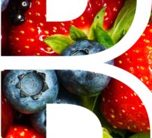 The Letter B - Fruit Sticker