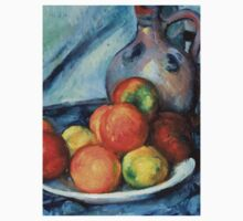 1894 - Paul Cezanne - Fruit and a Jug on a Table One Piece - Short Sleeve