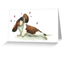 Fabulous Basset Hound Greeting Card