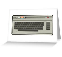 Commodore 64 Pixel Art Greeting Card