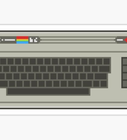 Commodore 64 Pixel Art Sticker