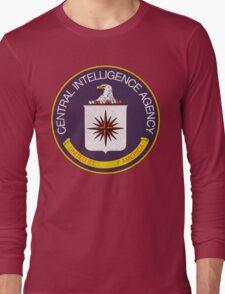 Distressed CIA Logo Long Sleeve T-Shirt