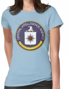 Distressed CIA Logo Womens Fitted T-Shirt