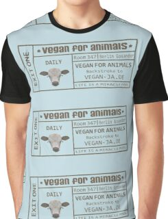 vegan for animals Graphic T-Shirt