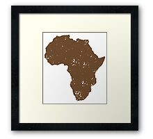 Map shape continent of AFRICA (distressed) Framed Print
