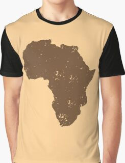 Map shape continent of AFRICA (distressed) Graphic T-Shirt