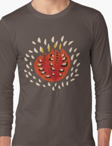 Abstract Red Tulip Long Sleeve T-Shirt