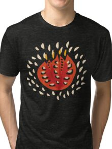Abstract Red Tulip Tri-blend T-Shirt