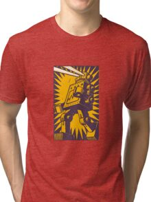 Purple Robot Tri-blend T-Shirt