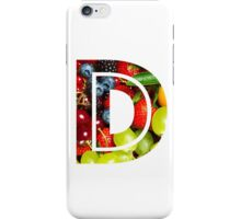 The Letter D - Fruit iPhone Case/Skin