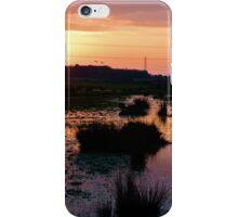 Sunset over the Marsh iPhone Case/Skin