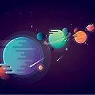 Vivid colorful alien planets by Diana Hlevnjak