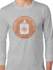 Distressed Vintage CIA Logo Long Sleeve T-Shirt