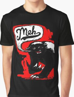 Meh Grumbles Honey Badger Graphic T-Shirt