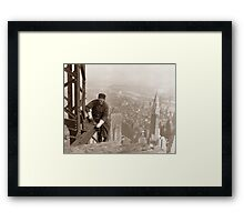Empire State Building Construction Framed Print