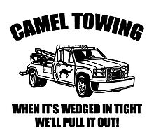 Camel Towing Wrecking Service Photographic Print