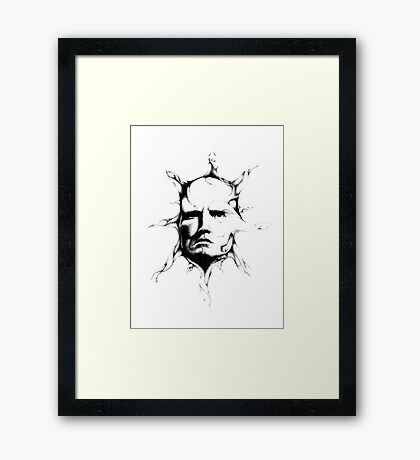 Thoughts extend out like rays from the sun Framed Print