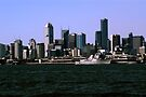 American Warship docked in Melbourne, Victoria, Australia by haymelter