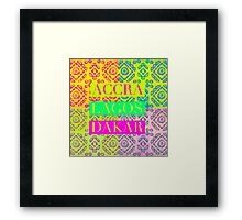 Fashion Capitals of Africa Framed Print