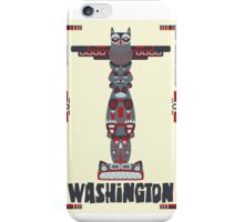 Washington State Poster iPhone Case/Skin