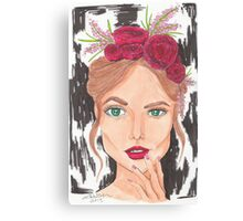 Do You Like the Roses in My Hair Canvas Print