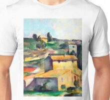 1895 - Paul Cezanne - Fields at Bellevue Unisex T-Shirt