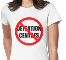 NO DETENTION CENTRES Womens Fitted T-Shirt