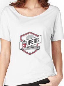 Superb Plumbing Shield Retro Women's Relaxed Fit T-Shirt