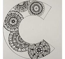 mandala patterned letter C Photographic Print